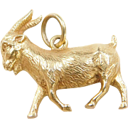 Vintage 14k Gold Billy Goat Charm