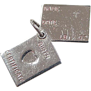 Vintage Sterling Silver Opening Birth Certificate Charm