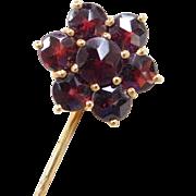Victorian Gold Vermeil Bohemian Garnet Stick Pin