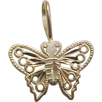 vintage 14k gold butterfly charm from arnoldjewelers on