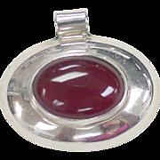 Vintage Sterling Silver Carnelian Pendant