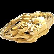 Designer Carrera Y Carrera 18k Gold Diamond Adam and Eve Ring