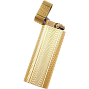 Cartier Designer 18k Gold Plated Working Lighter