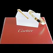 CARTIER Designer 18k Gold LOVE Bangle Bracelet with Screwdriver