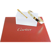 CARTIER Designer 18k Gold LOVE Bangle Bracelet with Screwdriver