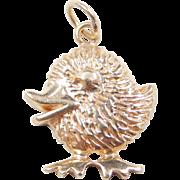 Vintage 14k Gold Little Chick Bird Charm