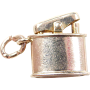 Vintage 14k Gold Cigarette Lighter Charm with Movable Top