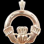 Vintage 14k Gold Claddagh Charm