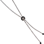 1930's Costume Faux Diamond Necklace ~ 18""