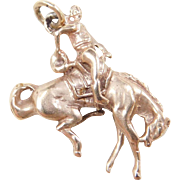 Vintage 14k Gold Cowboy Rodeo Charm