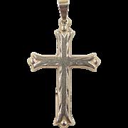 Vintage 14k Gold Cross Charm / Pendant