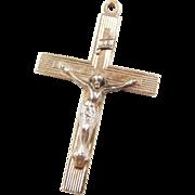 Vintage 14k Gold Two-Tone Crucifix Cross Pendant