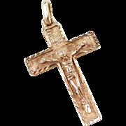Vintage 14k Gold Crucifix Cross Pendant