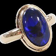 Stunning 1.95 Carat Australian Black Opal Ring 14k Gold ~ Deep Blue / Purple Color