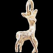 Vintage 14k Gold Deer Charm