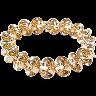 """Designer Sean Gilson 1983 Parabola Link Bracelet 14k Gold ~ 7 3/4"""""""