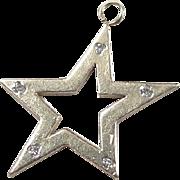 Vintage 14k Gold Diamond Star Charm