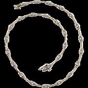 Vintage 14k Gold Two-Tone Diamond Necklace
