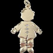 Vintage 14k Gold Diamond Boy Charm