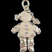 Vintage 14k Gold Diamond Girl Charm