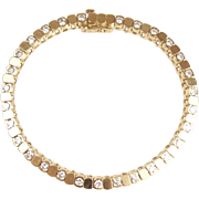 "Vintage 14k Gold 2.03 ctw Diamond Tennis Bracelet ~ 7 1/8"""