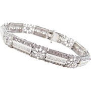 Beautiful 14k White Gold 3.10 ctw Diamond Bracelet ~ 6 5/8""