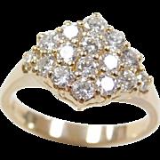 Vintage 14k Gold .56 ctw Diamond Ring