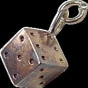 Vintage 14k Gold Dice Charm