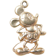 Vintage 14k Gold Disney Mickey Mouse Charm