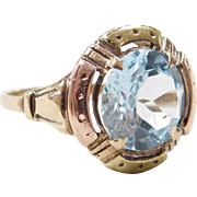 Edwardian 10k Yellow and Rose Gold Citrine Ring