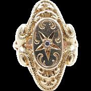 Edwardian 14k Gold .03 Carat Diamond Ring
