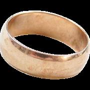 Edwardian 10k Gold Wedding Band Ring