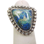 Vintage Sterling Silver Eilat Stone Ring