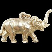 Vintage 14k Gold Elephant Charm