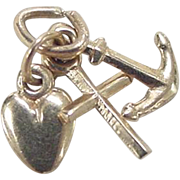 Vintage 14k Gold Faith, Hope and Charity Charm