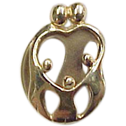 Vintage 14k Gold Family Charm / Pendant