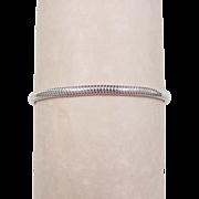 Vintage Sterling Silver Flat Snake Bracelet