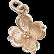 Vintage 14k Gold Dogwood Flower Charm