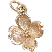 Vintage 14k Gold Dogwood Flower Charm
