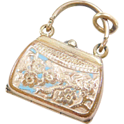 Vintage 10k Gold Plated Opening Purse Charm