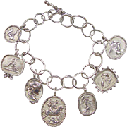 Sterling Silver Roman / Greek Soldier Charm Bracelet
