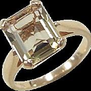 Vintage 14k Gold Green Quartz Ring