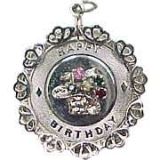 Vintage Sterling Silver Happy Birthday Charm ~ Personalized