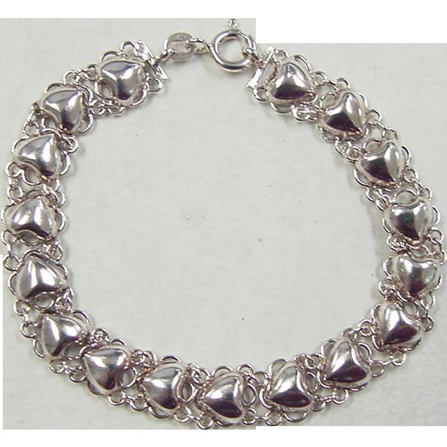 Vintage Sterling Silver Heart 98