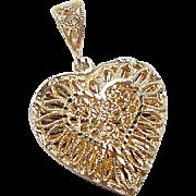 Vintage 14k Gold Heart Pendant