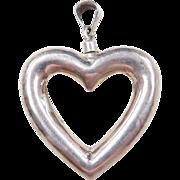 Sterling Silver Heart Perfume Bottle Pendant