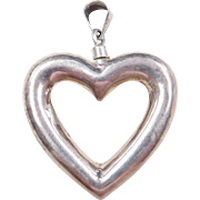 Sterling Silver Heart Perfume Bottle Pendant