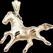 Vintage 14k Gold Running Horse Charm / Pendant