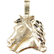 Vintage 14k Gold Horse Head Charm / Pendant
