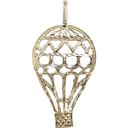 Vintage 14k Gold Hot Air Balloon Charm / Pendant